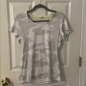 Women's Under Armour White Camo Workout Top